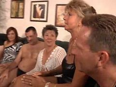 Granny, Orgy, Party, Milf, Xhamster